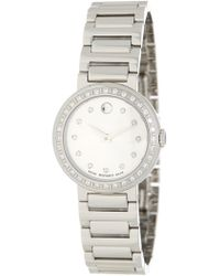 Movado | Women's Diamond Concerto Bracelet Watch | Lyst