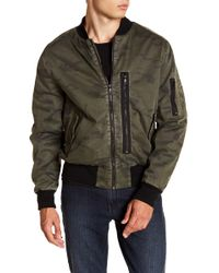 8d6d8cda4 Lyst - Marc New York Knox Down Bomber W/ Removable Faux Fur Hood in ...
