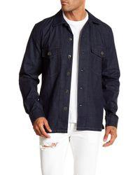 7 For All Mankind - Military Denim Regular Fit Shirt - Lyst