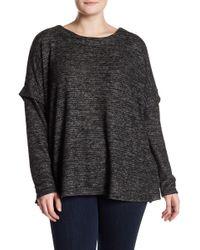 Bobeau - Cozy Slub Stripe Sweater - Lyst