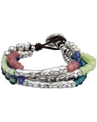 Uno De 50 - Anemone Irregular Beaded Layered Bracelet - Lyst