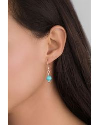 Relios - Sterling Silver Blue Turquoise Drop Earrings - Lyst