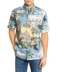 Reyn Spooner - 'trans Pacific 40s' Classic Fit Wrinkle Free Shirt - Lyst