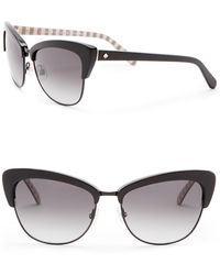 Kate Spade - Genette 56mm Clubmaster Sunglasses - Lyst