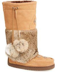 Manitobah Mukluks - Snowy Owl Genuine Rabbit Fur & Sheepskin Mukluk - Lyst