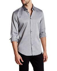 CALVIN KLEIN 205W39NYC - Herringbone Twill Long Sleeve Slim Fit Shirt - Lyst