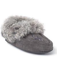 Manitobah Mukluks - Genuine Rabbit Fur Trim Traveller Moccasin - Lyst