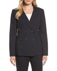 Halogen - Double Breasted Stretch Blazer - Lyst