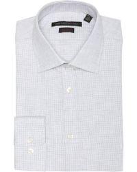 John Varvatos - Heathered Slim Fit Dress Shirt - Lyst