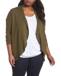 Sejour - Ribbed Cocoon Cardigan (plus Size) - Lyst