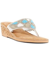 Kenneth Cole Reaction - Playful Beaded Wedge Sandal - Lyst