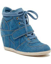 Ash - Bowie Denim Wedge Sneaker - Lyst