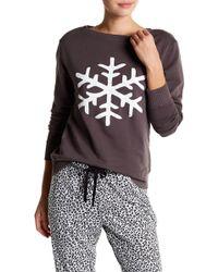 Love+Grace - Billie Snowflake Fleece Sweatshirt - Lyst