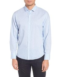 Zachary Prell - Mcgarry Gingham Print Slim Fit Sport Shirt - Lyst
