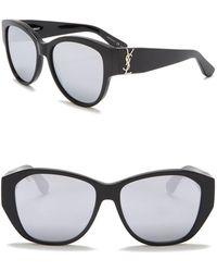 Saint Laurent - 56mm Cat Eye Sunglasses - Lyst