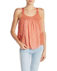 8c407e5621898 Lyst - Joie Hawn Floral Silk Tank in Pink