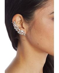 Marchesa - Mismatched Crawler Crystal Earrings - Lyst