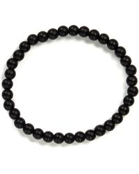 Link Up - Matte Onyx Beaded Stretch Bracelet - Lyst