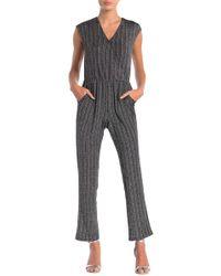 Spense - Striped Lurex Jumpsuit - Lyst