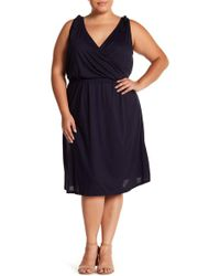 Joe Fresh - Knotted Strap Surplice Dress (plus Size) - Lyst
