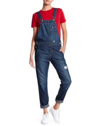Big Star - Heather Distressed Overalls - Lyst