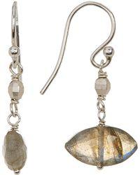 Chan Luu - Sterling Silver Faceted Marquise Labradorite Bead Drop Earrings - Lyst