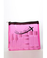 MIAMICA - Clear For Take-off Security Case 15-piece Set - Fuchsia - Lyst