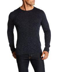 John Varvatos - Ribbed Crew Neck Sweater - Lyst