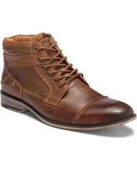 Steve Madden - Karrin Cap Toe Leather Boot - Lyst