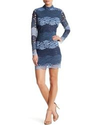 Romeo and Juliet Couture - Long Sleeve Lace Dress - Lyst
