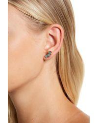 Sorrelli - Pear-cut Opalescent Crystal Earring Crawlers - Lyst