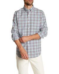Lands' End - Plaid Tailored Fit Shirt - Lyst