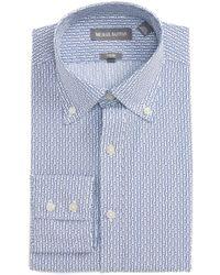Michael Bastian - Trim Fit Paper Clip Print Dress Shirt - Lyst