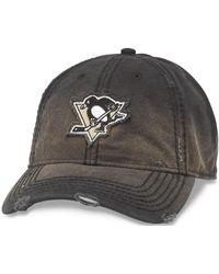 ff41306ce99f6 American Needle - Nhl Pittsburgh Penguins Distressed Nero Baseball Cap -  Lyst