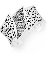 Lois Hill - Sterling Silver Stacked Filigree Cuff Bracelet - Lyst