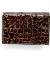 Boconi - Crocodile Gusseted Card Case - Lyst