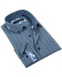 Coogi - Woven Pattern Tailor Fit Dress Shirt - Lyst