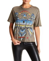 Affliction - Liquid Metal Cropped Tee - Lyst
