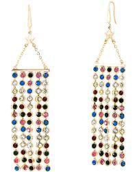 Steve Madden - Crystal Glass Fringe Drop Earrings - Lyst