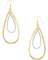 Karine Sultan - Maya Double Teardrop Earrings - Lyst