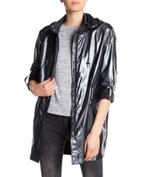 Dex - Hooded Long Sleeve Roll Up Windbreaker - Lyst
