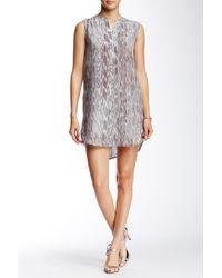 Acrobat - Sleeveless Printed Silk Tunic Dress - Lyst