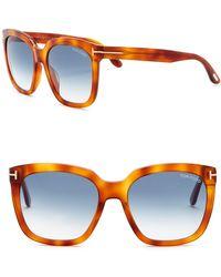 78a8e1714fa8 Lyst - Tom Ford Amarra Square Sunglasses in Brown