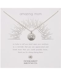 Dogeared - Sterling Silver Amazing Mom Radiant 3mm Freshwater Pearl Disc Necklace - Lyst