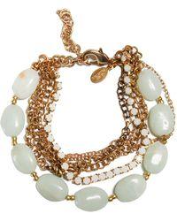 La Mer Collections - Venetian Amazonite Charm Bracelet - Lyst