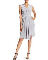 Acrobat - Sleeveless Silk Wrap Dress - Lyst