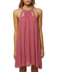 O'neill Sportswear - Luminous Embroidered Trapeze Dress - Lyst