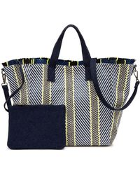 Steve Madden - Mixed Straw Tote Bag - Lyst