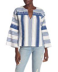 Joie - Selbea 3/4 Sleeve Stripe Knit Blouse - Lyst