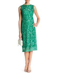 Sharagano - Lace Tank Dress - Lyst
